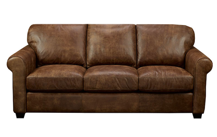 brown leather couch calgary